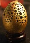 The Golden Egg (24 karat gold leaf.) –SOLD.